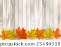 Happy Thanksgiving background with colorful leaves 25486339