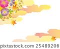 가을 꽃 배경 소재 일본식 디자인 25489206