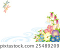 Summer to early autumn flower background material Japanese pattern 25489209