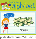 Flashcard letter M is for money 25489613