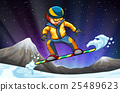 Man snowboarding on the hill 25489623