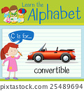 Flashcard letter C is for convertible 25489694