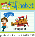 Flashcard letter A is for aeroplane 25489839