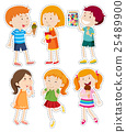 Sticker set of boys and girls 25489900