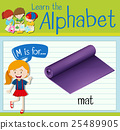 Flashcard letter M is for mat 25489905