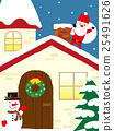 눈사람, 벡터, 산타 25491626