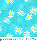 Floral seamless pattern with delicate flowers 25491757