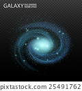 Galaxy. Really transparent vector galaxy effect 25491762