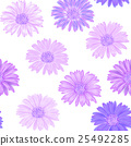 Seamless background with pink and purple gerbera 25492285