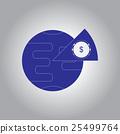 Vector illustration in flat design of Business pie 25499764