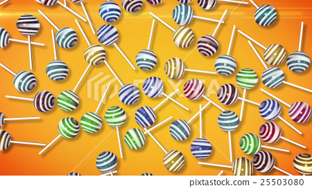 Lollipops. Candy on stick 25503080