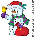 Christmas snowman topic image 1 25503339