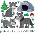 벡터, 늑대, 버섯 25503387