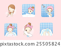 cartoon woman is taking  bath 25505824