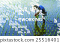 Working Outdoors People Graphic Concept 25516401