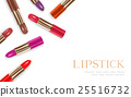 Lipstick color set and lipstick text 25516732