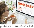 Summer Calendar Schedule Fun Happiness Concept 25517350