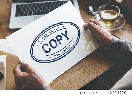Copy Duplicate Print Scan Transcript Counterfoil Concpet 25517504