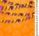 花環 三角形 背景 25519408