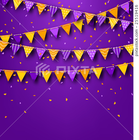 Halloween Party Background with Colored Bunting 25519416