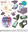 Games icons set, cartoon style 25522322