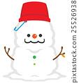 雪人 下雪 雪 25526938