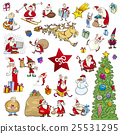 cartoon christmas elements set 25531295