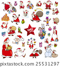 cartoon christmas characters set 25531297