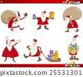 santa claus characters set 25531301