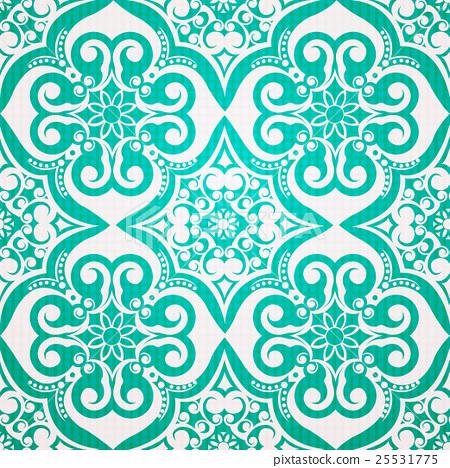 Seamless moroccan damask pattern 25531775