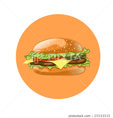 Burger. Cheeseburger vector illustration.Hamburger 25533515