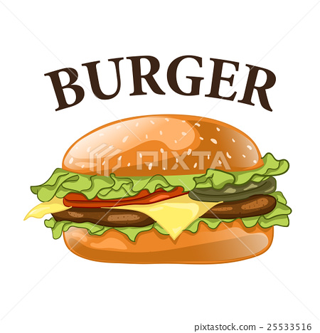Burger isolated on white background. Cheeseburger 25533516