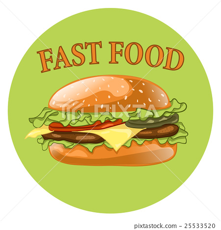 Burger. Cheeseburger vector illustration.Hamburger 25533520