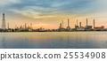 Sunrise over oil refinery river front, Bangkok 25534908