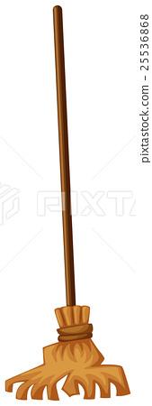 Broom on white background 25536868