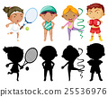 sport, athlete, silhouette 25536976