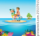 Family trip to the ocean 25537015