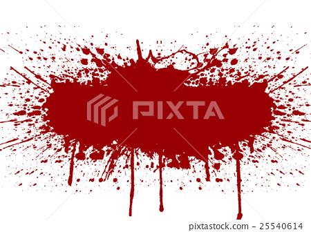 Vector splatter red color background 25540614