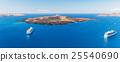 Luxury cruise ships, caldera and volcano near Fira 25540690