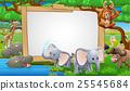 Safari Animals Cartoon Sign 25545684
