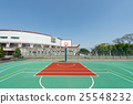 Outdoor basketball court 25548232