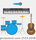 Musical instruments guitar and synthesizer 25551648