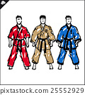 Martial arts. Karate fighters silquette high kick 25552929