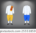 Isolated men suit, traditional Thai costume 25553859