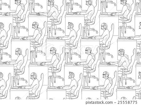 Cyber sport pattern 25558775
