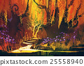 abstract colorful landscape,fantasy forest 25558940
