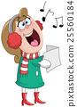 Christmas carols woman 25560184