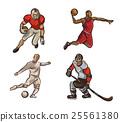 Football , basketball player, hokeist isolated on 25561380