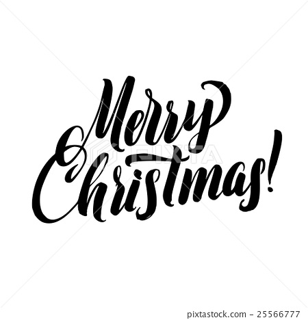 Christmas Calligraphy.Merry Christmas Calligraphy Stock Illustration 25566777