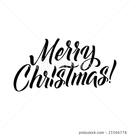 Merry Christmas Calligraphy.Merry Christmas Calligraphy Stock Illustration 25566778